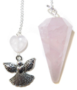 Rose Quartz Angel's Love Pendulum
