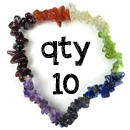 Natural Multi Gemstone Chakra Stretch Bracelet (Qty 10)