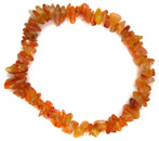 Chip Bead Stretchy Bracelet (Carnelian)