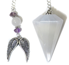 Selenite Angel Love Pendulum