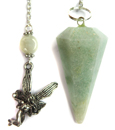 Aquamarine Faceted Pendulum with Fairy Charm