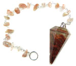 Gemstone Chip Pendulum (Red Jasper)