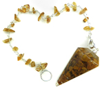 Gemstone Chip Pendulum (Yellow Agate)