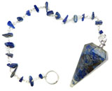 Gemstone Chip Pendulum (Lapis)