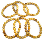 Stretchy Palo Santo Wood Bead Bracelet (6 Pack)