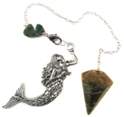 Llanite & Mermaid Charm Pendulum