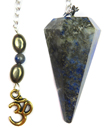 Lapis Faceted Pendulum with OM Charm
