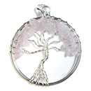 Tree of Life Pendant (Rose Quartz)