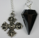 Hematite Pendulum with Visvavajra Top
