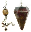 Fancy Jasper Pendulum with Frog