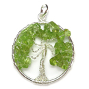 Tree of Life Pendant (Peridot)