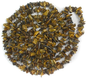 Gemstone Chips Necklace (Tiger Eye)