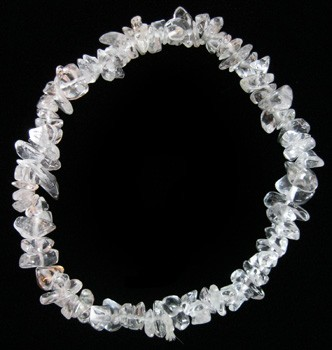 Chip Bead Stretchy Bracelet (Clear Quartz)