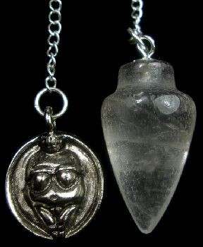 Quartz and Willendorf Goddess Pendulum