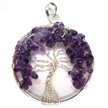Tree of Life Pendant (Amethyst)
