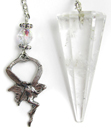 Clear Quartz & Fairy Pendulum