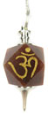 Etched OM Pendulum (Red Jasper)