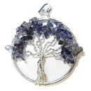 Tree of Life Pendant (Iolite)