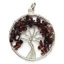 Tree of Life Pendant (Garnet)
